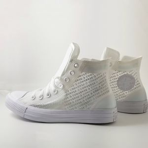 See through converses size 7.5 in mens